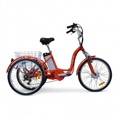 Jorvik Electric Folding Adult Tricycle 24'' (red)