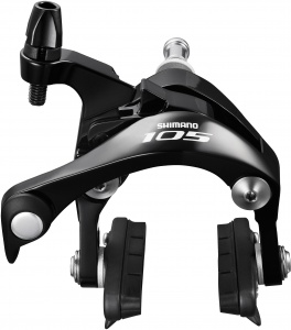 BR-5800 105 brake callipers, 49 mm drop, black, front