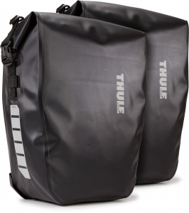 Shield panniers, 25 litres each, pair - black