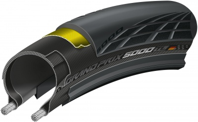 Grand Prix 5000 700 x 25C TL BlackChili folding Tyres, sold in pairs